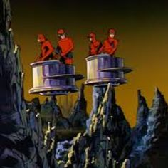 Flying platforms from Jonny Quest Time Cartoon, Cartoon Tv, Classic Cartoons, Cool Cartoons, Jonny Quest Cartoon, Dream Quest, 60s Tv, Space Ghost, Comic Book Characters