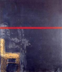 Antoni Tàpies. Negre amb linia vermella 1963 tecnica mista su tela 195x170 cm