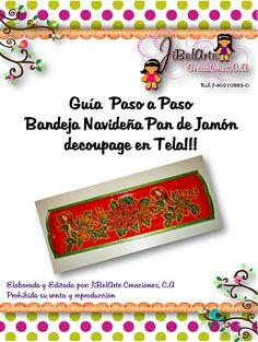Guía Digital Decoración Bandeja para Pan de Jamón Navidad  By JiBelArte Creaciones
