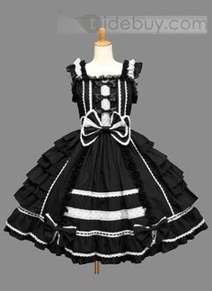 Best Seller Sleeveless Black Lolita Dress