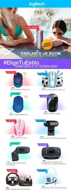#Logitech #parlantes #mouse #webcam #headset #auriculares #volantes  www.gvinformatica.com.ar