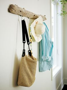 Driftwood coatrack | Dig into our DIY projects library for fun new ways to personalize your home