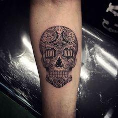 Money skull by Isaiah Negrete Tattoo Design For Hand, Skull Tattoo Design, Tattoo Design Drawings, Tattoo Sleeve Designs, Skull Tattoos, Tattoo Designs Men, Hand Tattoos, Tattoo Sketches, Tatoos