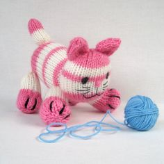 Cupcake the kitten - toy cat knitting pattern - PDF INSTANT DOWNLOAD from toyshelf on Etsy Studio