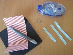 Vor langer Zeit habe ich diese Schoki-Schulranzen als Idee für Tischkarten zur Einschulung gezeigt -und bekomme immer wieder Anfrage wie es geht - daher heute eine kurze Anleitung:Schneide Dir ein Tombow, Tags, Back To School, Stocking Stuffers, Place Cards, Mailing Labels