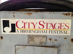 An old advertisement for City Stages in Birmingham, Alabama.