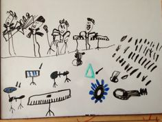A picture of a rock concert by Diego Alejandro, 6 years old • Art My Kid Made #music #kidart