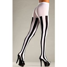 Be Wicked Women's Opaque Vertical Stripe Tights (9.93 AUD) ❤ liked on Polyvore featuring intimates, hosiery, tights, white opaque tights, white hosiery, white tights, opaque stockings and opaque tights