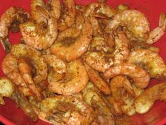 We make our shrimp like this to but steam wedges of onion with it. It is so good in summertime with steamed Maryland blue crabs, sweet corn on the cob steamed right on top of the crabs and Ice cold beers or Bloody Mary's. Perfect summer dinner best when enjoyed with friends.