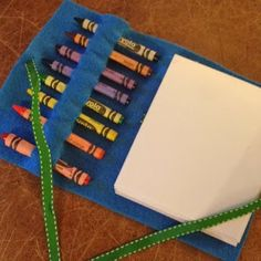 Great shower or birthday party favor No-Sew Crayon Wrap - Inspiration.Pinterest