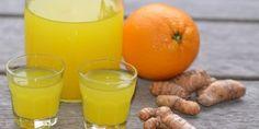 Lækre gurkemejeshots med appelsin og gurkemejerod