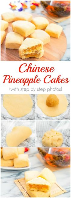 Chinese Pineapple Cakes with step by step photos