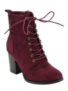 88fd3a89041 Beston GF08 Women s Lace Up Side Zip Block High Heel Combat Ankle Booties