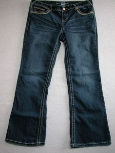 Maurices Stretch Med Wash Jeans Size 13 / 14 X Short (Measure 35x28) EUC #Maurices #BootCut