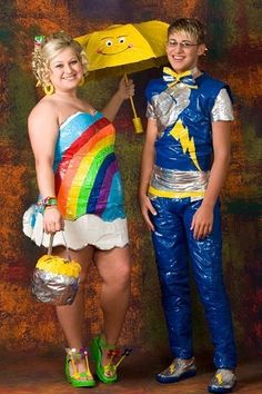 Rainbow and Thunder Outfits Prom Night Out  ---- funny pictures hilarious jokes meme humor walmart fails