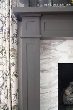 carrera marble fireplace surrounds   Wood work detail for fireplace and mantle and hearth. Calcutta gold ...