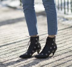 Get ideas for how to wear trendy ankle boots and jeans together, including options for wearing booties with skinny jeans and boyfriend styles.: Give Hems a Trim