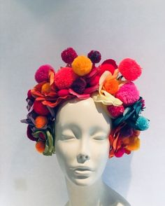 Items similar to Pom pom headpiece -Red Headband- Whimsical on Etsy Pom Pom Headband, Red Headband, Festival Accessories, Easter Crafts For Kids, Floral Hair, Craft Stick Crafts, Preschool Crafts, How To Make Hair, Festival Party