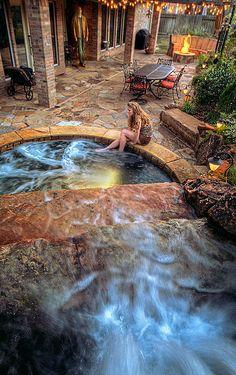 Backyard Spa, Fire Pit