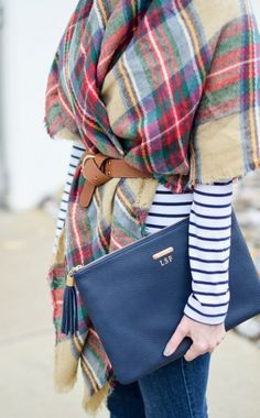 #fall #fashion / tartan + stripes