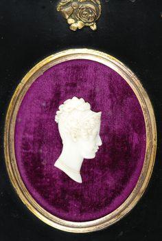 Wax head of Princess Charlotte
