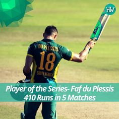 Faf du Plessis is the Man of the Series for a whopping 410 runs! Wow! #SAvSL #SA #SL #cricket