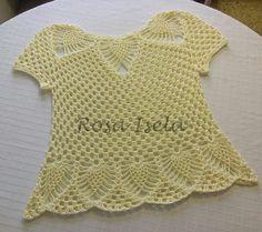 Resultado de imagen para polera tejida a crochet con piñas