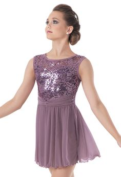 Weissman™ | Sequin Lace Fluted Hem Skirt Dress  Also comes in a gorgeous blue:)