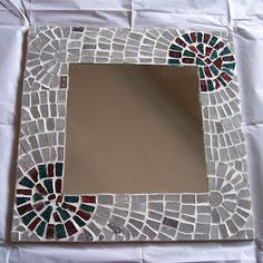 See related links to what you are looking for. Mirror Mosaic, Mosaic Art, Wall Art Crafts, Bargello, Chalk Paint, Decoupage, Arts And Crafts, Cool Stuff, Frame