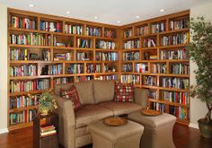 Built-in shelves make book organizing a cinch.