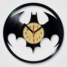 Vinyl Record Batman Clock $39
