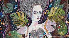 Detail from Del Kathryn Barton's Sapling Del Kathryn Barton, Australian Artists, Art And Illustration, Les Oeuvres, Painting & Drawing, Illustrators, Artsy, Portrait, World