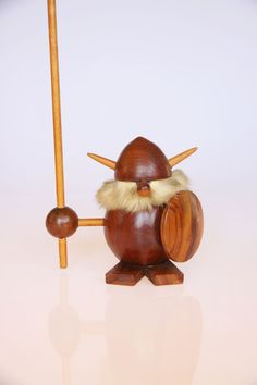 Mid century Scandinavian wooden Viking figurine from hipposdream on Etsy. Vintage Love, Unique Vintage, Etsy Vintage, Vintage Shops, Vintage Items, Wood Turning Projects, Woodworking Toys, Wooden Toys, Wood Crafts