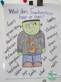 Using Frankenstein with possessive nouns: Swimming Into Second