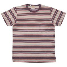 Levi's Vintage 1960s Stripe Tee (¥5,010) ❤ liked on Polyvore featuring men's fashion, men's clothing, men's shirts, men's t-shirts, tops, shirts, t-shirts, tees, mens stripe shirts and mens striped shirt