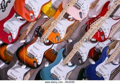 A guitar wall