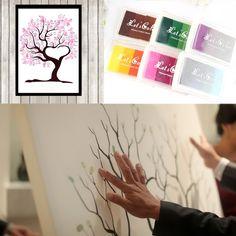 Ucuz Birçok stilleri düğün parmak izi ağaç imza ziyaretçi defteri + 24 renk ıstampa seti düğün için mezuniyet resim boyutu s/l, Satın Kalite Şenlikli & Parti Malzemeleri doğrudan Çin Tedarikçilerden:     parmak izi ağaç imza ziyaretçi defteri düğün için mezuniyet&nb