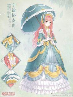 love nikki dress up queen Anime Girl Dress, Anime Girl Pink, Manga Girl, Pelo Anime, Anime Manga, Anime Art, Chibi, Kleidung Design, Nikki Love
