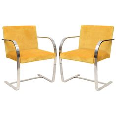 Pair of Ludwig Mies van der Rohe Bruno Chairs for Knoll | From a unique collection of antique and modern armchairs at http://www.1stdibs.com/furniture/seating/armchairs/