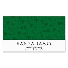 Green Golf Theme Personalized Business Card find more personalized gifts at www.mouseandmarker.com