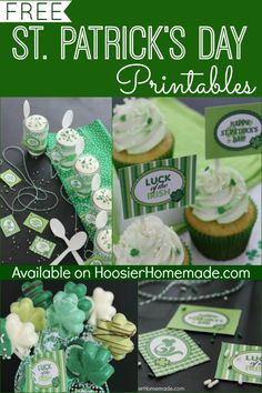 FREE St. Patrick's Day Printables   Available on HoosierHomemade.com