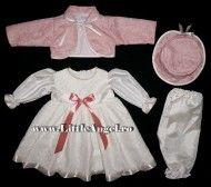 Costum de botez cu rochita si bolero RAMONA