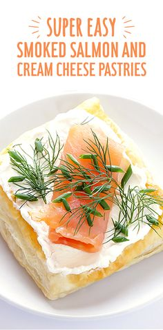 How do you improve upon a classic lox bagel? recommends swapping out the bagel for pastry and the standard cream cheese for simply better Arla cream cheese. The result is a fresh, brunch-ready dish, not to mention totally easy! Get the recipe now. Lox And Bagels, Smoked Salmon Appetizer, Cream Cheese Pastry, Healthy Snacks, Healthy Recipes, Salsa, Appetizer Recipes, Holiday Appetizers, Pizza