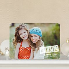 Blessed Note - Holiday Photo Cards by Anne Kelle for Tiny Prints