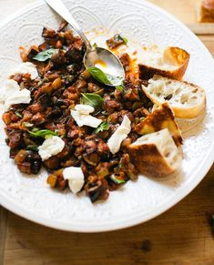 Must Try Sicilian Caponata | The Clever Carrot Eggplant Salad, Eggplant Dishes, Sicilian Caponata Recipe, Italian Diet, Bread Salad, Food Words, Fresh Mozzarella, Some Recipe, Best Appetizers