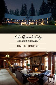 """Built in 1926, Lake Quinault Lodge gives our guests a taste of days gone by & was proudly featured in """"Great Lodges of the National Parks"""" on PBS."""