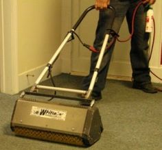 The latest technology in crystal dry carpet cleaning.