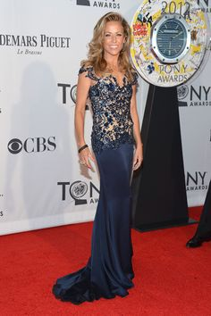 Sheryl Crow 2012 Tony Awards  Go Sheryl Crow! The singer got it right in a beautiful ensemble. The sparkly bodice and soft bottom really suited Sheryl's body and she was the perfect canvas for this dress!