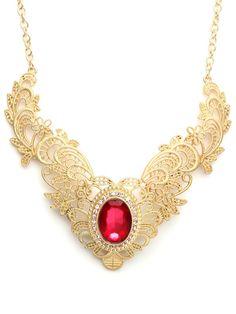 Bauble Bar V-Lace Necklace
