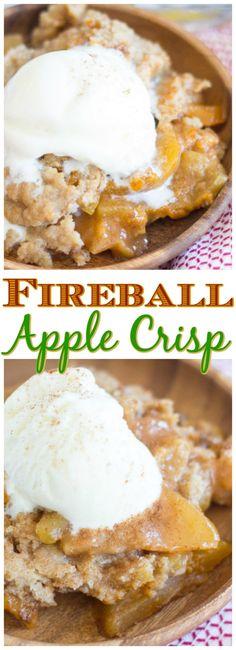 Fireball Recipes, Whiskey Recipes, Alcohol Recipes, Fireball Apple Pie Recipe, Drinks Alcohol, Alcoholic Desserts, Apple Desserts, Delicious Desserts, Yummy Food